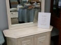 White console with Mirror