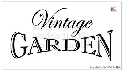 Bon M0010_Vintage Garden Stencil
